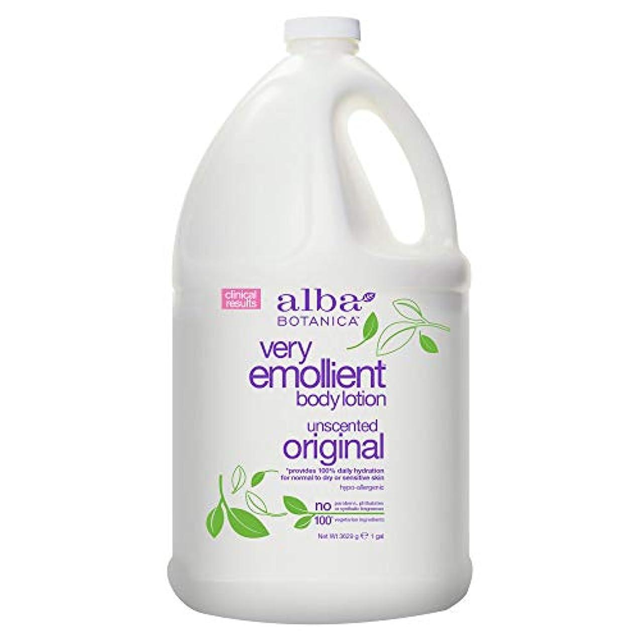 なめるボーカル明らかAlba Botanica Very Emollient Body Lotion Original Unscented - 1 Gallon