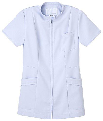 ナガイレーベン 女子上衣 医療白衣 半袖 ブルー LL CB-1532