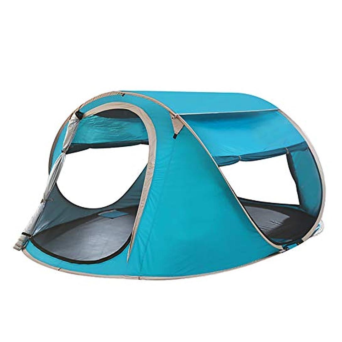 とても多くの人間ロードハウスオープンビーチテント、大規模な自動インスタントセットアップ簡単なテント、折りたたみ式シェルター、抗UVコーティング付きキャンプテント
