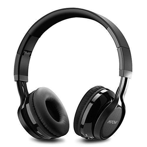 MPOW Thor Bluetooth ヘッドホン ワイヤレス イヤホン ヘッドフォン 有線可能 iPhone&Andiord&pc用 (マイク付き/ハンズフリー通話/ノイズキャンセル技術/折り畳み式) ブラック