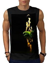 Wellcoda 燃焼 チリ コショウ 男性用 S-5XL 袖なしTシャツ