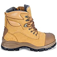 Blundstone 992 Steel Toe Safety Men's Work Boots. Wheat, 150mm, Lace & Zip.