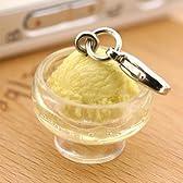 ソフト・アイス 食品サンプル ミニチュア マスコット アクセサリー (アイスクリーム/バニラ)