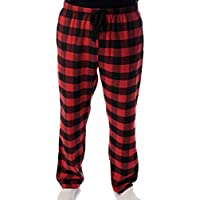#followme Men's Flannel Pajamas - Plaid Pajama Pants for Men - Lounge & Sleep PJ Bottoms