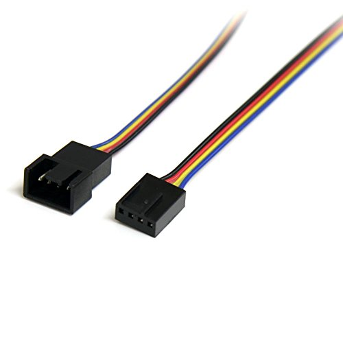 StarTech PWM(4ピン)ケースファン電源延長ケーブル 30cm 1x 4ピン(オス)/1x 4ピン(メス) FAN4EXT12 1個