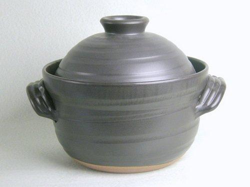 新大黒 炊飯 ごはん土鍋 4合炊き(二重蓋) 万古焼