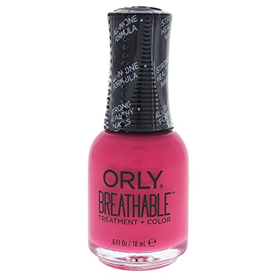 カセット言語学疑わしいOrly Breathable Treatment + Color Nail Lacquer - Pep In Your Step - 0.6oz / 18ml