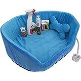 楕円形の加熱ベッドと一緒に出産後のための新しい子犬パック、きれいなペンダント、25生理用ナプキン、Sherleys Spray Away、ペットトレーニングスプレー、Wormer