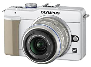 OLYMPUS ミラーレス一眼 E-PL1s レンズキット ホワイト E-PL1s LKIT WHT
