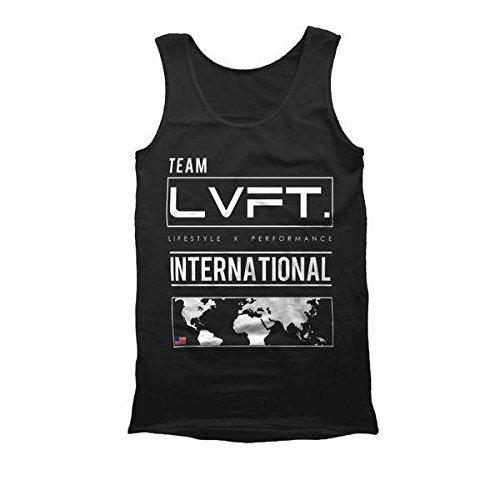 【LVFT】LIVE FIT. International Tank タンクトップ スポーツウエア ジムウエア フィットネス メンズ シャツ メーカー直輸入 (S, Black) [並行輸入品]
