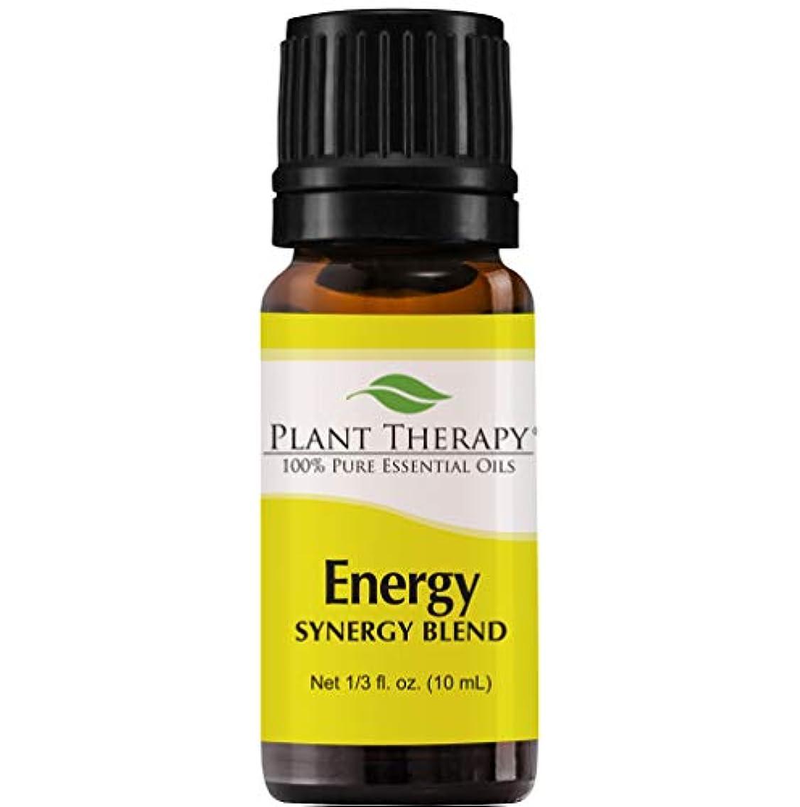 会話型奇跡的な差別Plant Therapy Essential Oils (プラントセラピー エッセンシャルオイル) エネルギー シネジー エッセンシャルオイル ブレンド (身体的エネルギー)10 ml