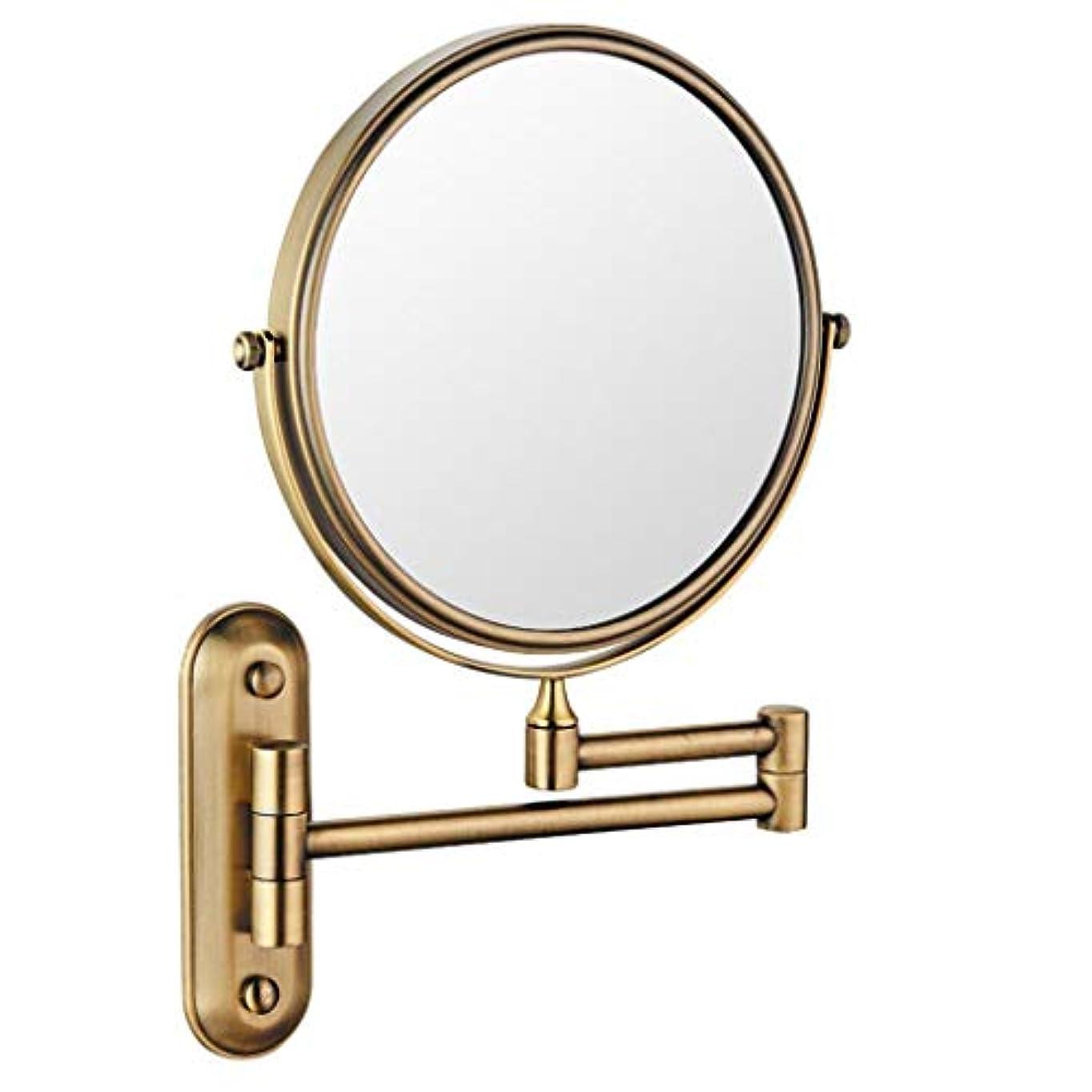 HUYYA シェービングミラー 壁付、バスルームメイクアップミラー 6インチ360度回転 化粧鏡 両面 バニティミラー 丸め 寝室や浴室に適しています,Antique_3x