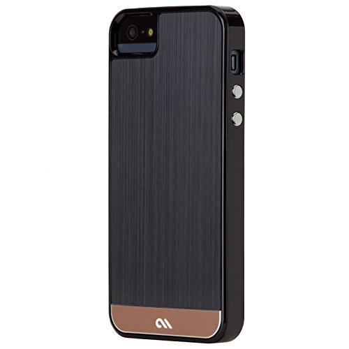 Case-Mate 【美しい ヘアライン加工表面仕上】 iPhone5s / 5 Crafted Case Brushed Alminum, Black / Rose Gold CM025695