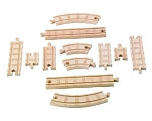 きかんしゃトーマス 木製レールシリーズ 直線&曲線 拡張線路セット(Y4089)