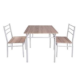 (オーエスジェー) OSJ ダイニングテーブル 3点セット ダイニングテーブルセット 食卓テーブルセット 2人用 食卓椅子 (ナチュラル)