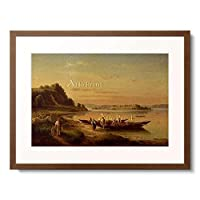 Moosbrugger, Josef,1810-1869 「Looking from Staad to the peninsula Mainau.」 額装アート作品