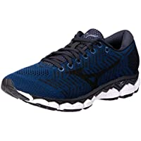 Mizuno Australia Men's Waveknit S1 Running Shoes, Blue Wing Teal/Black/Silver