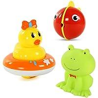 【ノーブランド 品】3本 かわいい ゴム きしむ 動物 赤ちゃん 子供 お風呂の玩具 贈り物