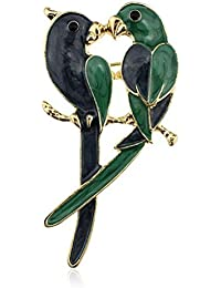 Ruikey 動物 オウムブローチピン ブローチ 卒業式 古典 人気 おしゃれ ブローチアクセサリー ジュエリー プレゼント 合金