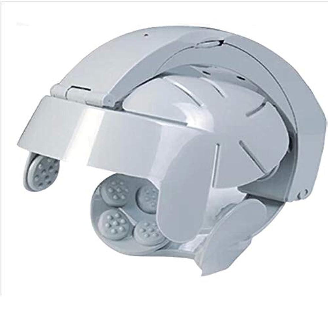 取り組む第四スクリューエレクトリック?ヘッドマッサージ脳マッサージヘルメット頭皮をリラックスストレスのために調節可能なサイズと8モードでツボをリラックス