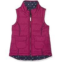 Hatley Little Girls' Reversible Vests, Fuchsia/Polka Dots, 6