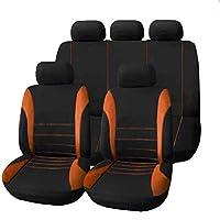 Tianmey 四季ユニバーサル5シートカーファブリックシートカバーシートクッションセット9セットで縫い目 (Color : Style6)