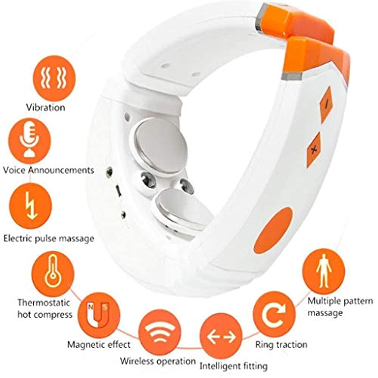 タンク文明とは異なり3Dスマート子宮頸マッサージ器、感電パルス理学療法機器、さまざまなマッサージ方法、USB充電、リングトラクション、マグネット、Bluetooth音楽、車/ホームオフィス首振動マッサージ