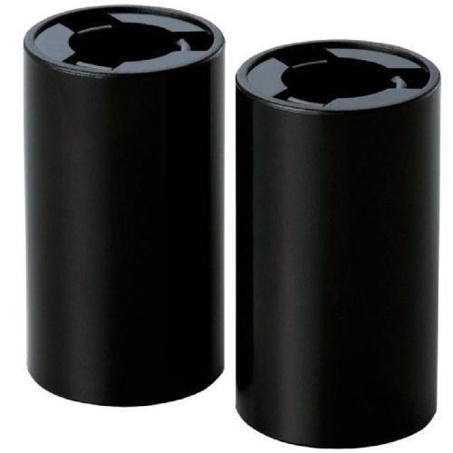 ELECOM 電池スペーサー 単3→単2変換 2個セット ブラック DE-S3/22PBK