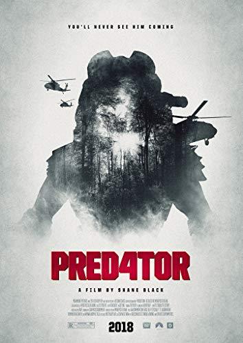 ザ・プレデター☆90×60cm☆海外 レア☆シルク調☆ファブリック ポスター☆4 The Predator
