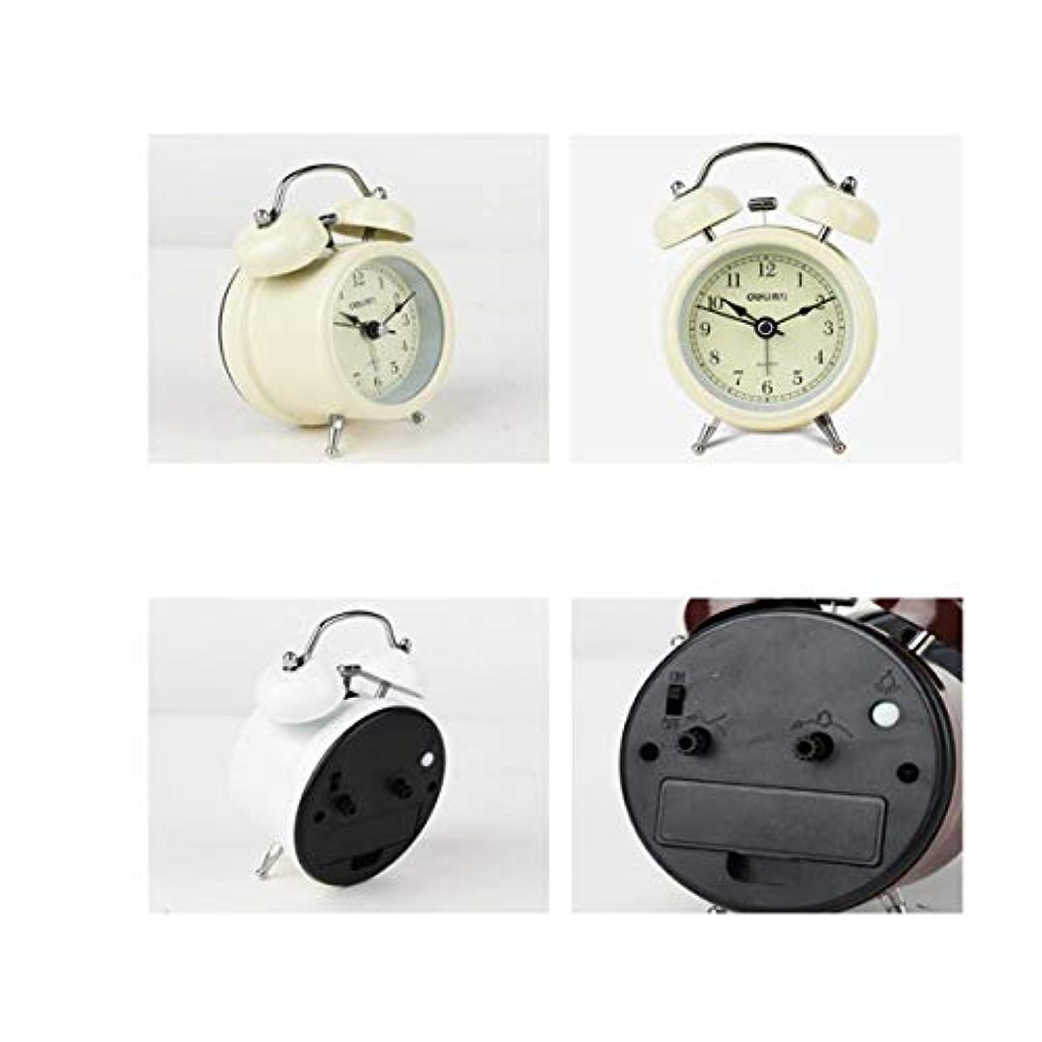 扇動する小切手署名Kaiyitong001 目覚まし時計、家の寝室に適したミニ発光サイレント目覚まし時計、家庭に適して、(ランダムに送信色) (Color : White)