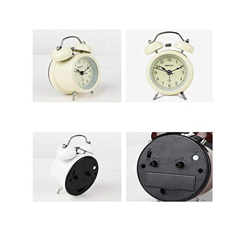 ピグマリオンタービン電気的Kaiyitong001 目覚まし時計、家の寝室に適したミニ発光サイレント目覚まし時計、家庭に適して、(ランダムに送信色) (Color : White)