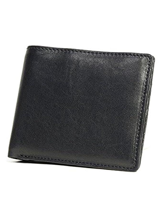 階層症候群ブランドPG8 (ピージーエイト) 二つ折財布 小銭入れなし ブラック/黒 プレミアムシープレザー メンズ #pg8ts03-bk