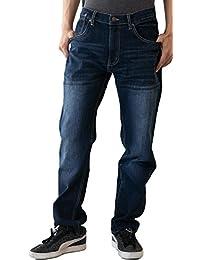 [スリーピングシープ] メンズ レギュラー ストレート デニム パンツ ブルー ネイビー M ~ LL