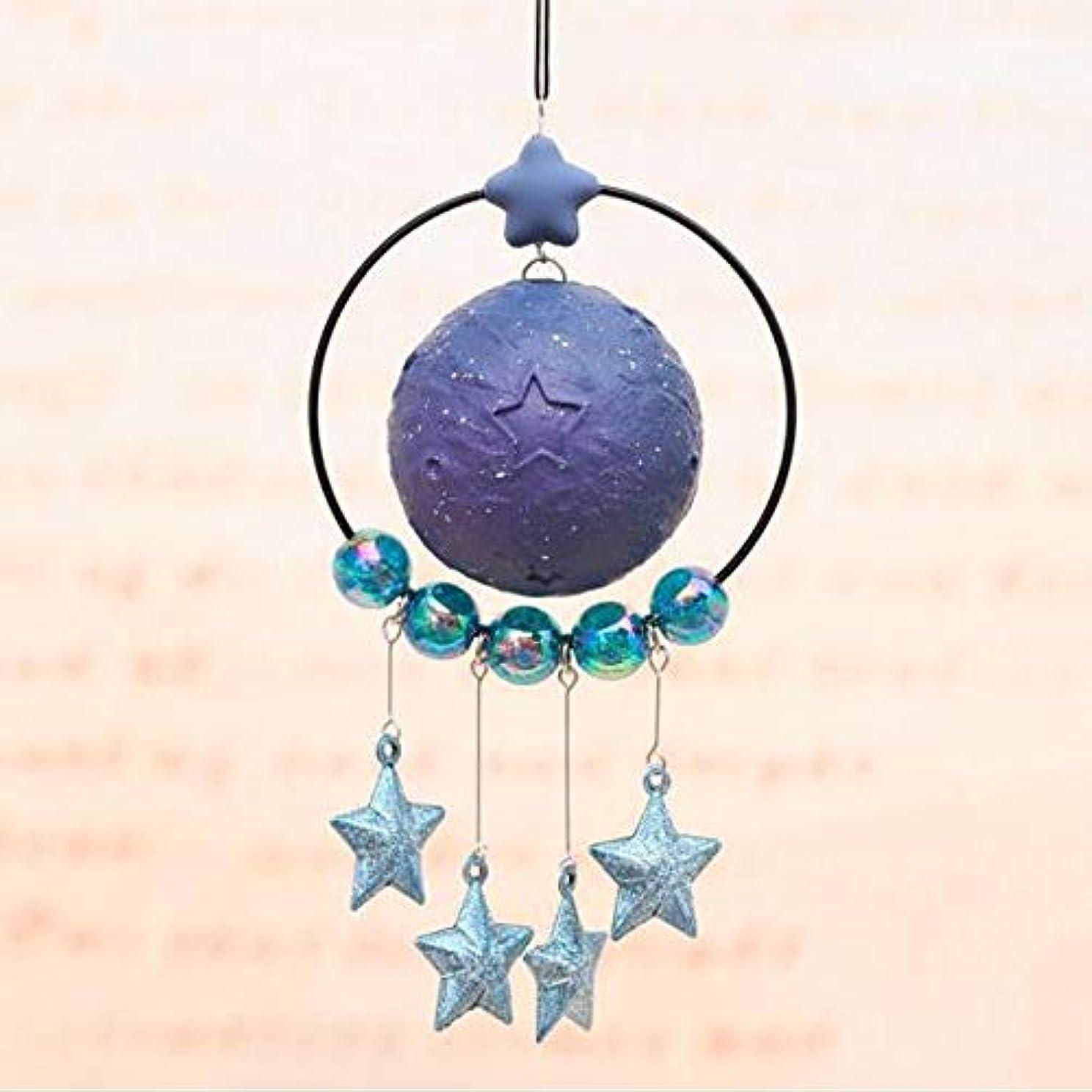 アシスタント誓う翻訳するYoushangshipin 風チャイム、樹脂材料、ホームデコレーション、クリエイティブファッション風チャイム、ブルー、サイズ9X 27cmの,美しいギフトボックス (Color : Blue)