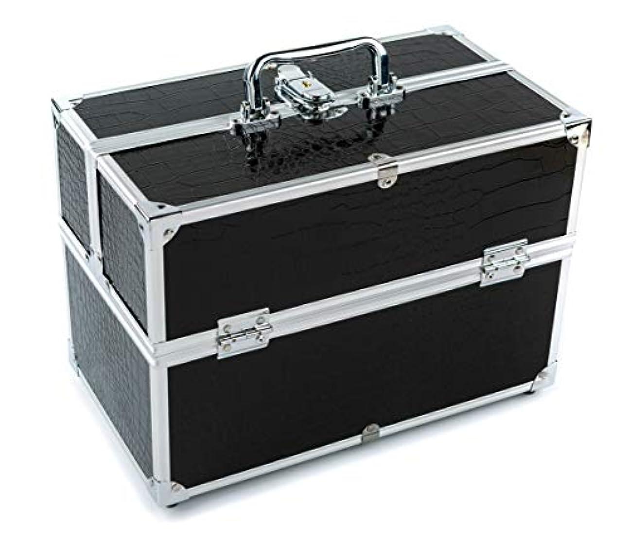 謙虚知覚相反するGOGOS メイクボックス 持ち運び 人気 かわいい アルミ制 大容量 化粧品収納ケース コスメBOX コスメボック 化粧道具入れ 化粧品収納 取っ手付 祝日プレゼント