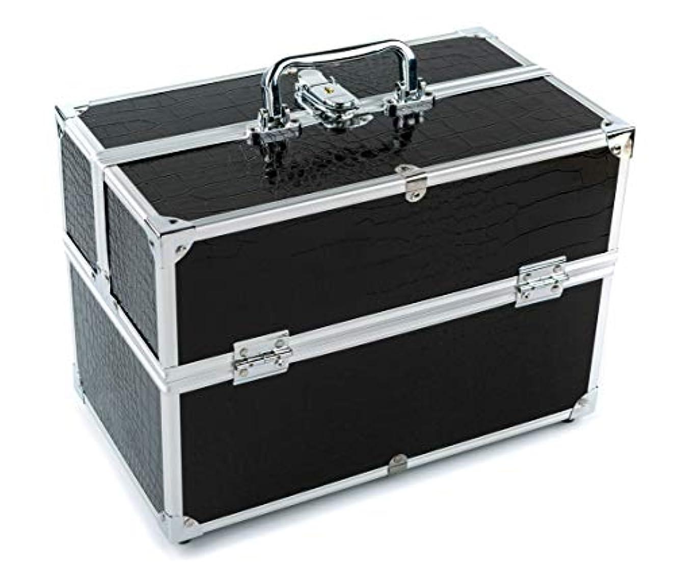 シェーバー満員移住するGOGOS メイクボックス 持ち運び 人気 かわいい アルミ制 大容量 化粧品収納ケース コスメBOX コスメボック 化粧道具入れ 化粧品収納 取っ手付 祝日プレゼント