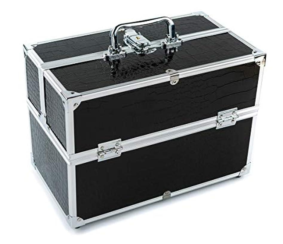 無駄合図フレットGOGOS メイクボックス 持ち運び 人気 かわいい アルミ制 大容量 化粧品収納ケース コスメBOX コスメボック 化粧道具入れ 化粧品収納 取っ手付 祝日プレゼント