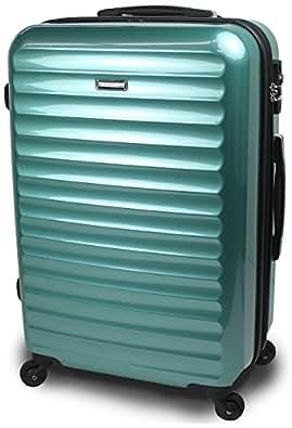 【SUCCESS サクセス】 TSAロック 搭載 超軽量 スーツケース 【3サイズ( 大型・中型・小型)】 【ヴィアーノ2016ダブルファスナーモデル】 鏡面ミラー加工 (中型 67cm, ニューマリン)