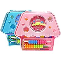 幼児期のゲーム 1セット子供のパズル初期教育キノコ模型学生ラーニングボックス(ランダムカラー)