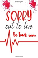 """SORRY out to live be back soon: A Premium Journal And Logbook To Protect and Organizer for All Your Passwords and Shit (Modern Password Keeper, Vault, Notebook and wallet keys, password manager) 6"""" x 9"""" made in USA"""
