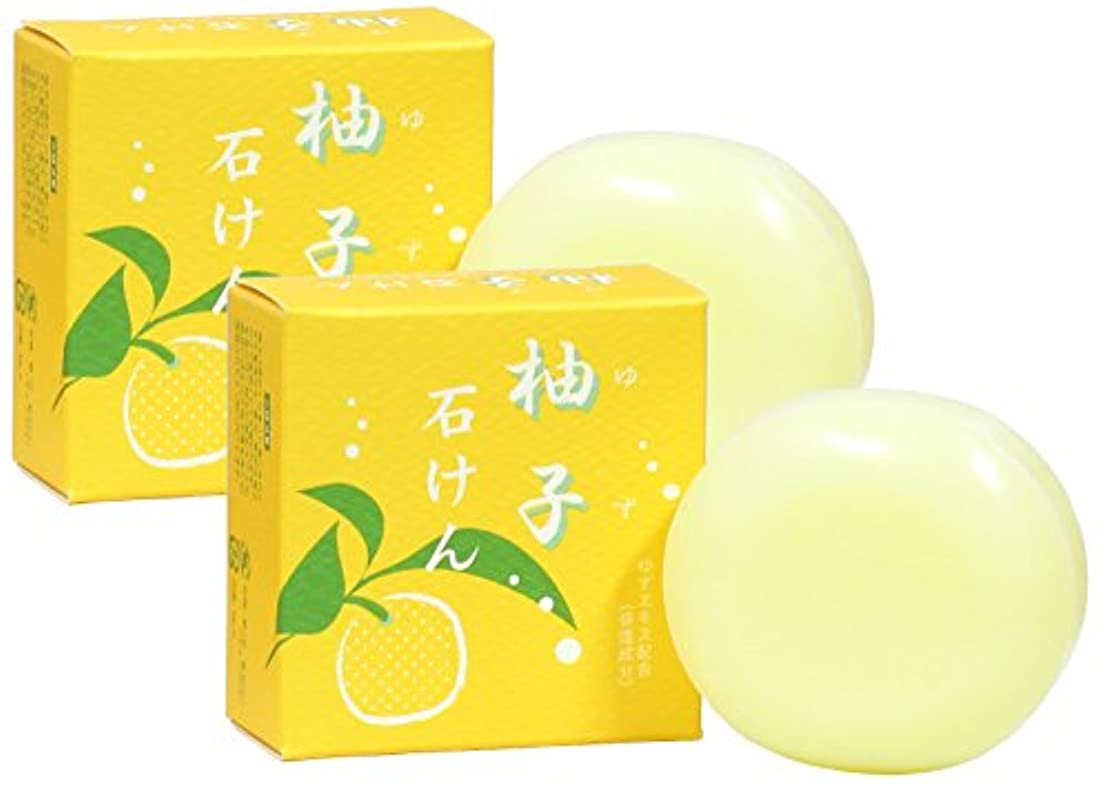 汚れる頭蓋骨振り返るゆず石鹸100g×2個 ユズ 柚子 石けん せっけん セッケン