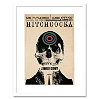 Ad Cultural Movie Film Hitchcock Vertigo Poland Picture Framed Wall Art Print 文化映画膜ポーランド画像壁