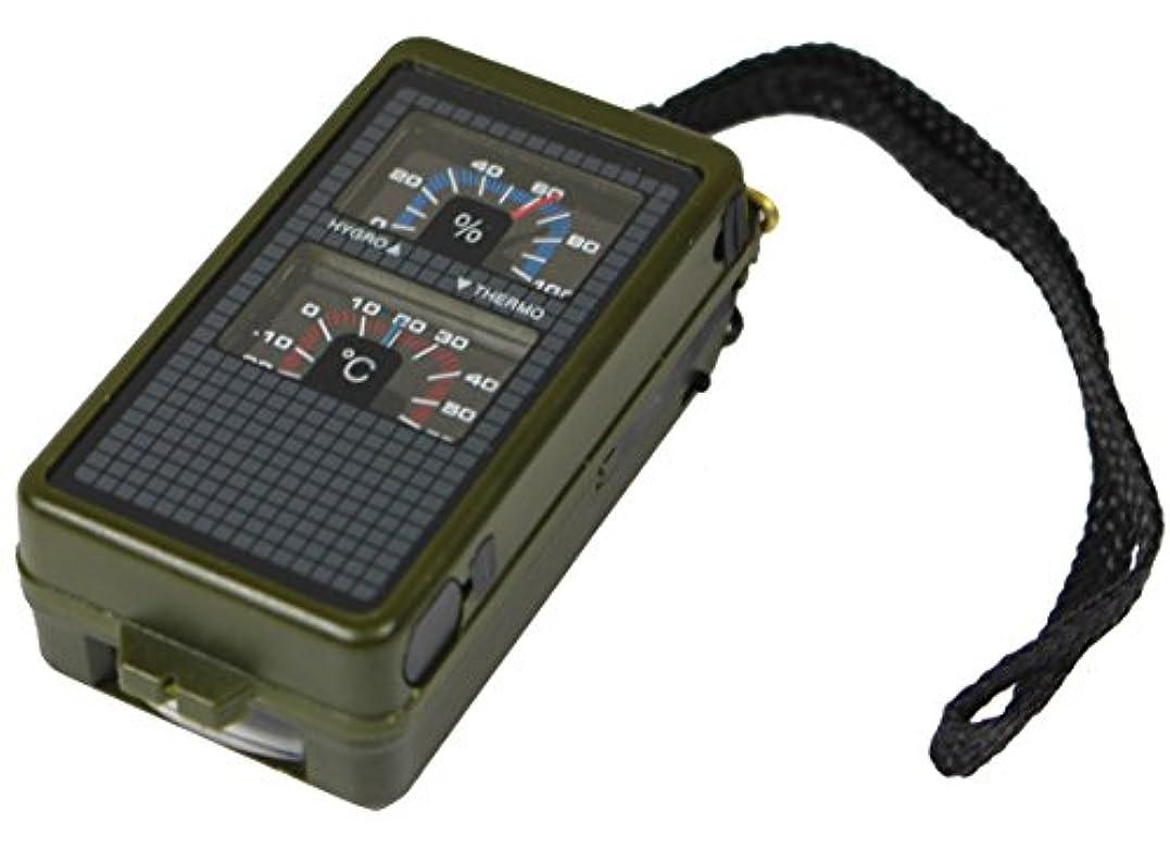 承認するモナリザレンジ温度計、湿度計および精神のレベルが付いている戦術的な10機能軍様式のコンパス