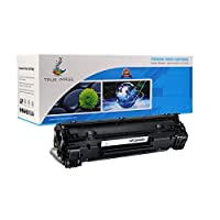 TRUE IMAGE Compatible HP 36A CB436A Toner Cartridge (Black 1 Pack) [並行輸入品]