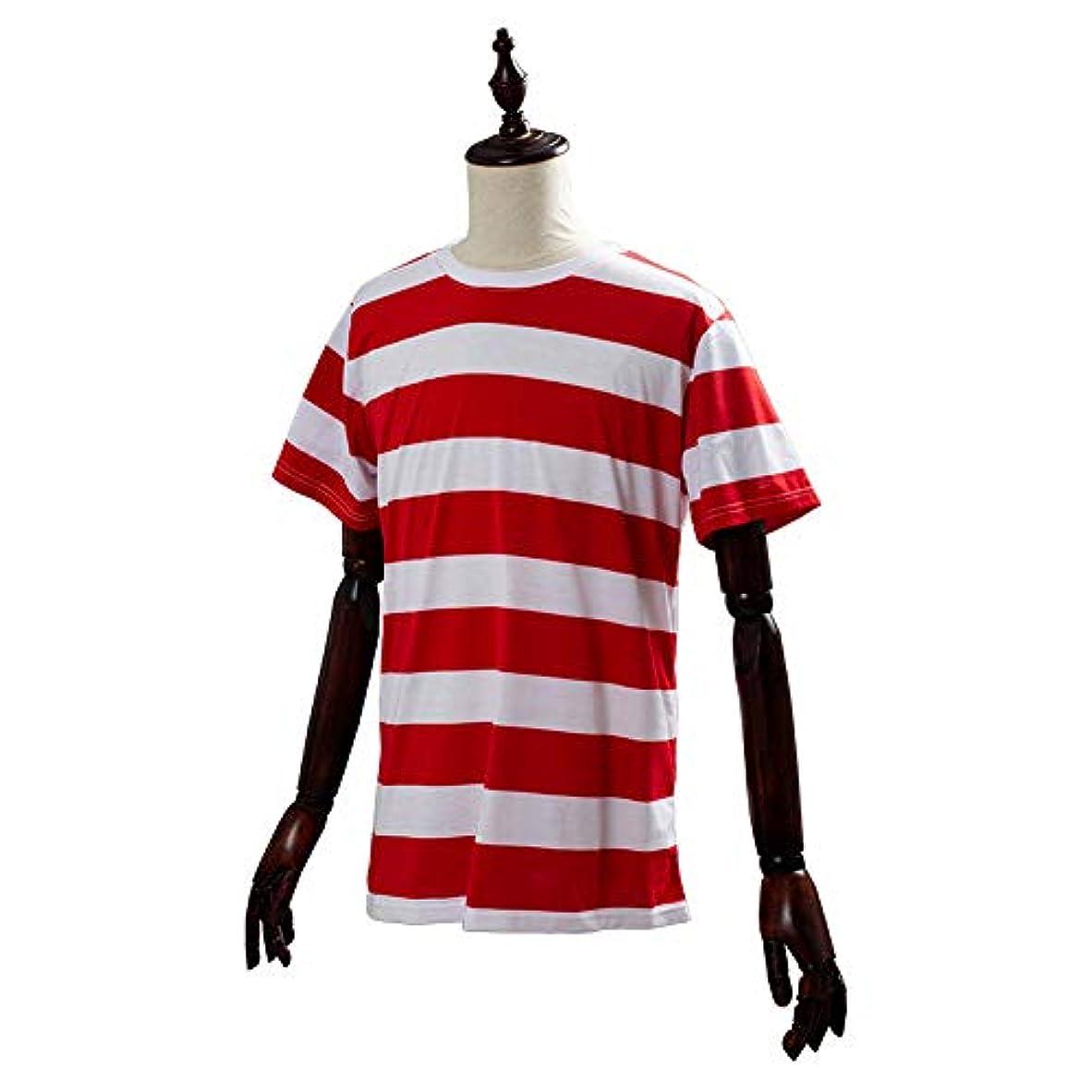 溶ける識別するエジプト人mesvcos ハロウィン コスプレ ウォーリーを探せ コスプレ Tシャツ メンズ Where's Wally 上着だけ 男 女 衣装 仮装 コスチューム 大人用 パーティー クリスマス ハロウィン L