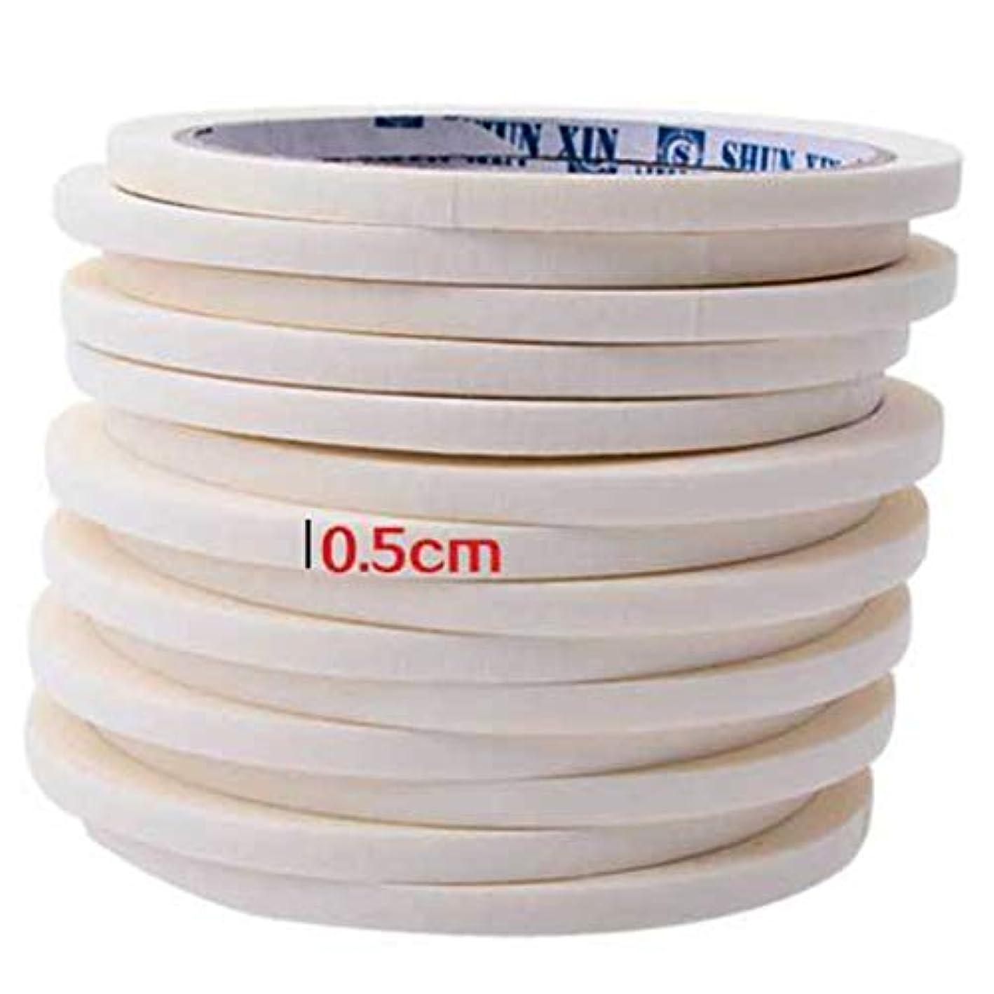 白い変化する拾うBirdlanternネイルテープ0.5センチマスキングテープ装飾パターンネイルポリッシュツールマニキュアネイルアートネイルテープアクセサリー用マニキュア