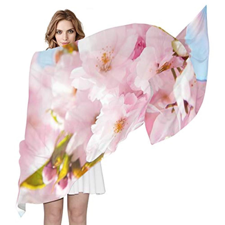 カプセル電化する番目ユキオ(UKIO) 肌触り抜群 薄手 シフォンシルク ロング スカーフ ストール バンダナ おしゃれ ピンク 花 かわいい彼女 子供 贈り物 ギフト 母の日 誕生日 プレゼント レディース バレンタインデー かわいい