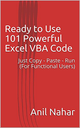 Ready to Use 101 Powerful Excel VBA Code by Anil Nahar-P2P