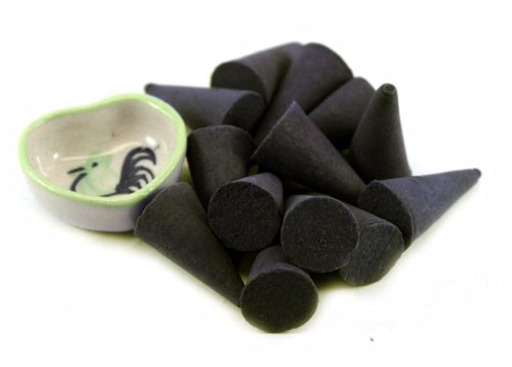 古風なロマンスイーウェルAgarwood Incense Cones with Burnerホルダー100ピースパックThaiEnjoy製品
