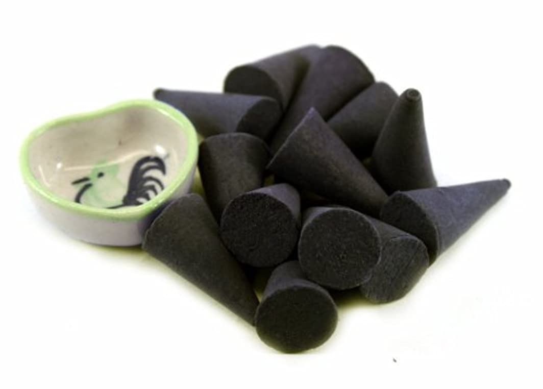 ピンチ突進仕立て屋Agarwood Incense Cones with Burnerホルダー100ピースパックThaiEnjoy製品